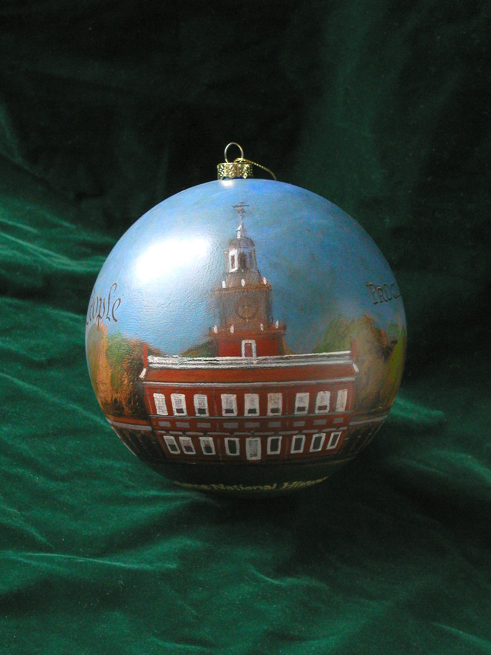 White house christmas ornaments historical society -  White House Christmas Tree Ornament Commissioned By Independence National Historical Park Designed And Hand Painted